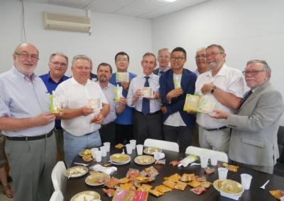 Visite du Préfet - Pangniu Food à Charmes