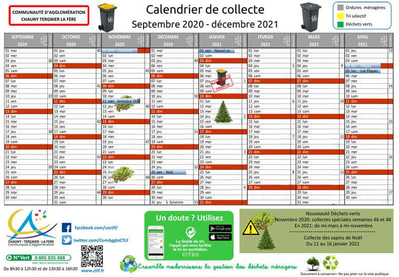 Calendriers de Collecte par commune   Communauté Agglomération CTLF