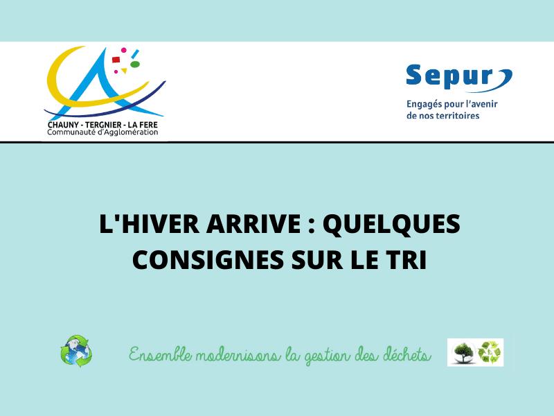 Quelques consignes sur le tri - Communauté d'agglomération Chauny Tergnier La Fère