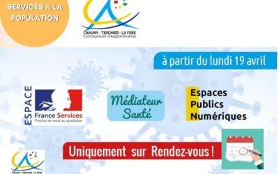 Espaces publics numériques, le médiateur santé et l'Espace France Services