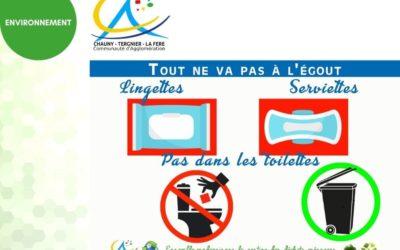 Ne confondons pas les toilettes et la poubelle!