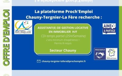 PROCH' EMPLOI – Assistant(e) de gestion locative en immobilier  H/F