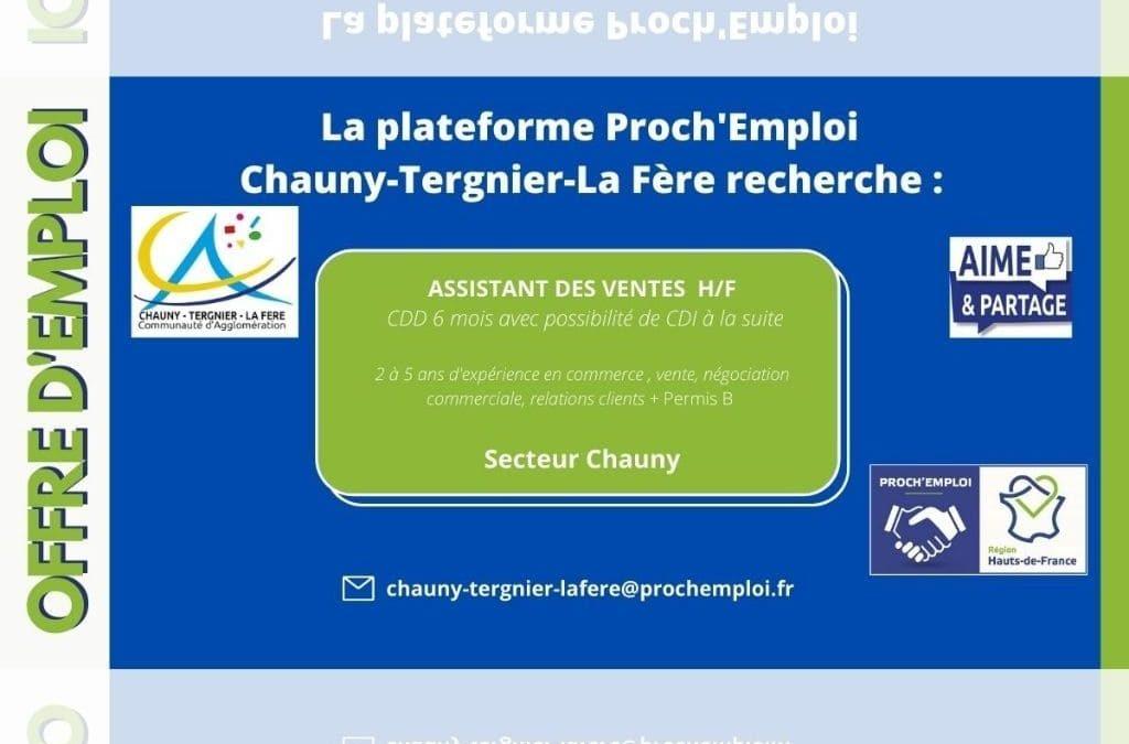 PROCH' EMPLOI – Assistant des ventes (Offre TER-25066)