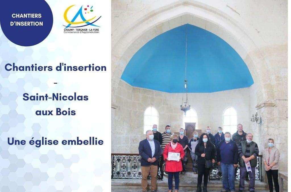 Chantiers d'insertion – Une église embellie à Saint-Nicolas-aux-Bois