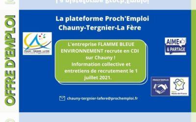 PROCH' EMPLOI – L'entreprise FLAMME BLEUE ENVIRONNEMENT RECRUTE !