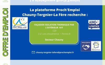 PROCH' EMPLOI – Façadier isolation thermique par l'extérieur H/F (Offre TER-24826)