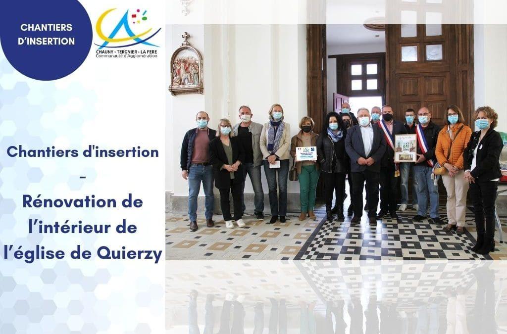 Chantiers d'insertion – Rénovation de l'intérieur de l'église de Quierzy