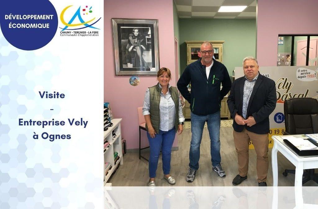 Visite de l'entreprise Vely à Ognes