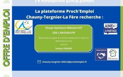 PROCH' EMPLOI – Chargé Opérations Bâtiment (Offre TER-25438)