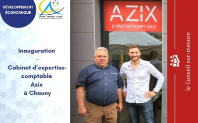 Inauguration du cabinet d'expertise-comptable Azix à Chauny