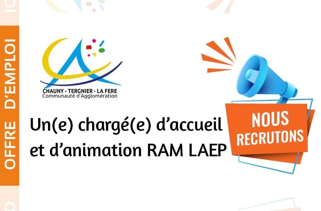 Offre d'emploi – Un(e) chargé(e) d'accueil et d'animation RAM LAEP