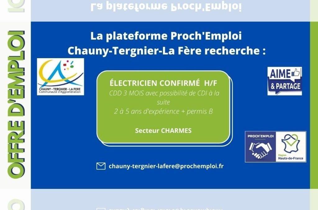 PROCH' EMPLOI – Electricien confirmé (Offre TER-25222)