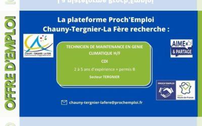 PROCH' EMPLOI – Techniciens de maintenance en génie climatique (Offre TER-25538)