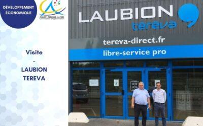 Visite à l'équipe du magasin Laubion-Téréva