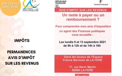 Espace France Services : Permanence des agents des Finances publiques