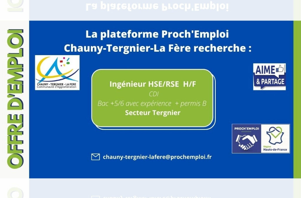 PROCH' EMPLOI – Ingénieur HSE/ RSE H/F