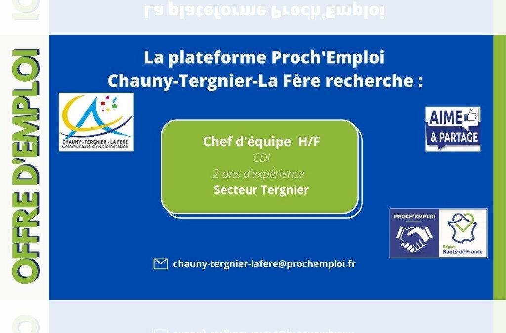 PROCH' EMPLOI – Chef d'équipe H/F