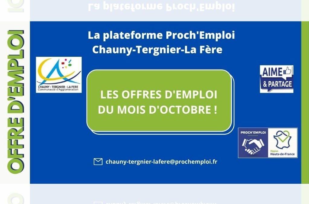 PROCH' EMPLOI – Les offres d'emploi du mois d'octobre